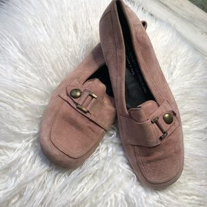 AGL Loafers Pink size 8.5 pink suede